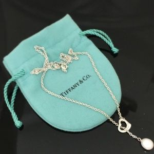Tiffany and co silver and pearl necklace